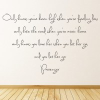 Passenger Wall Sticker Let Her Go Wall Decal Music Song ...