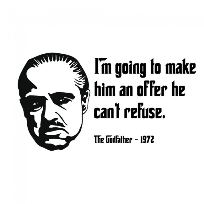 Wallpaper For Girls Room Uk The Godfather Wall Sticker Movie Quote Wall Decal Bedroom