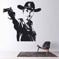 Rick Grimes Gun Wall Sticker The Walking Dead Wall Art