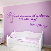 the beauty wall beauty and the beast wall sticker quote ...