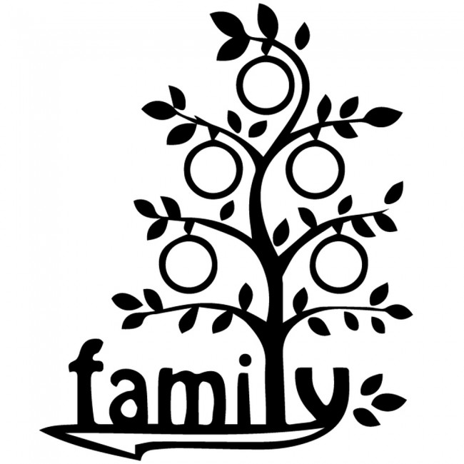 Cartoon Family Tree Wall Sticker Family Wall Art
