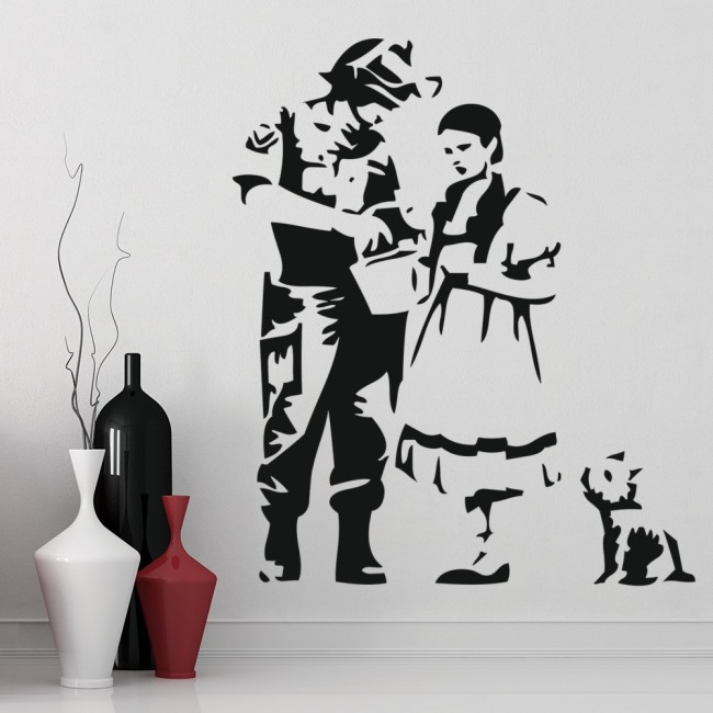 dorothy toto oz wall sticker banksy wall decal graffiti street art