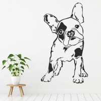 French Bulldog Wall Sticker Pets Dogs Animals Wall Decal ...