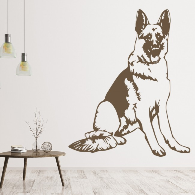 Vans Wallpaper For Girls German Shepherd Dog Canine Pets Wall Sticker