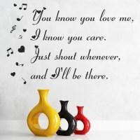Baby Justin Bieber Hearts & Notes Song Lyrics Wall Sticker ...