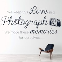 Love In A Photograph Wall Sticker Ed Sheeran Song Lyrics ...