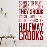 Mob Deep Wall Sticker Halfway Crooks Song Lyrics Wall ...