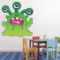 Green Monster Wall Sticker Monsters Wall Decal Kids ...