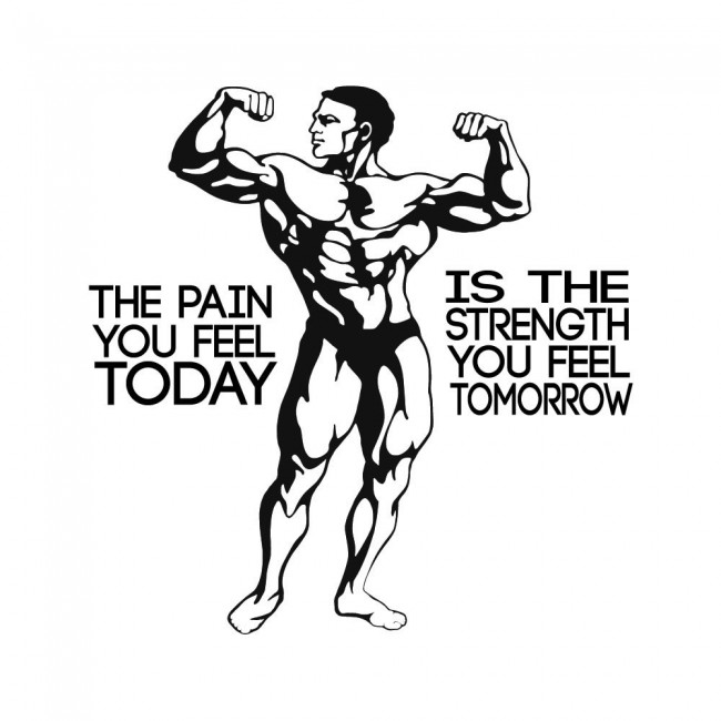 Bodybuilding Fitness Wall Sticker Motivational Quote Wall