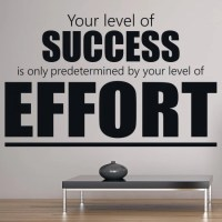 Success & Effort Motivational Inspirational Quotes Wall ...