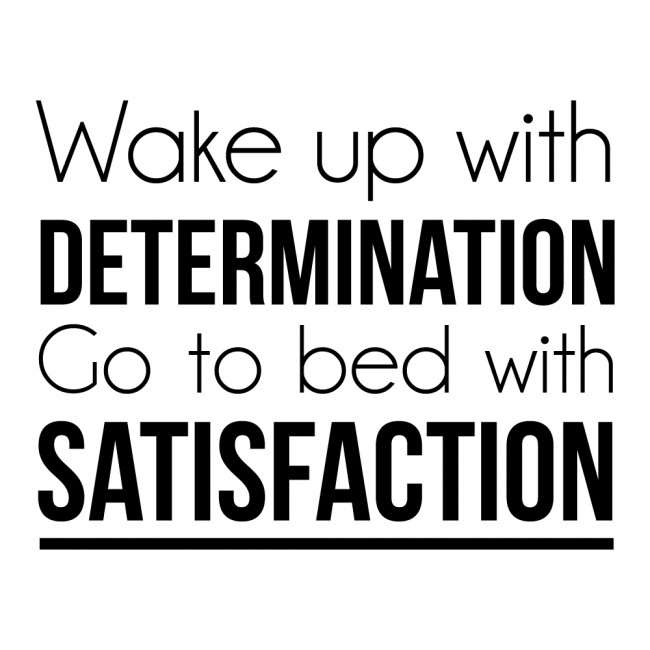 Determination Satisfaction Wall Sticker Inspirational