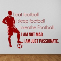 Eat Sleep Football Wall Sticker Sports Quote Wall Decal ...