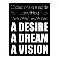 Desire Dream Vision Wall Sticker Sports Quote Wall Decal ...