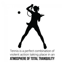 Total Tranquility Wall Sticker Tennis Quote Wall Decal ...