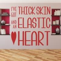 Thick Skin Elastic Heart Sia Song Lyrics Wall Sticker Home ...