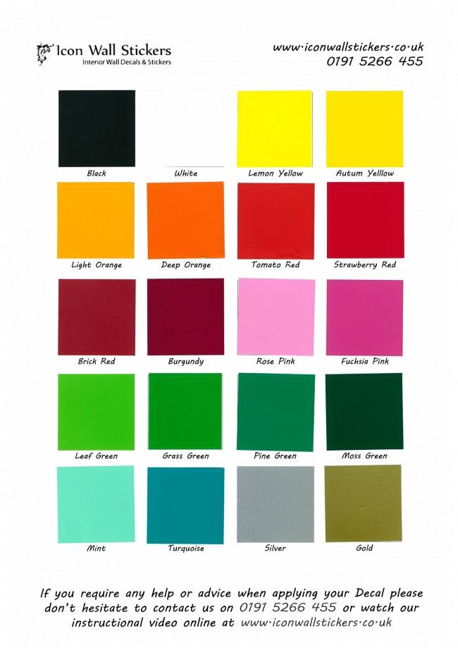 Vans Wallpaper For Girls Wall Sticker Sample Colour Swatch