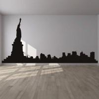 New York Wall Sticker City Skyline Wall Decal Bedroom ...