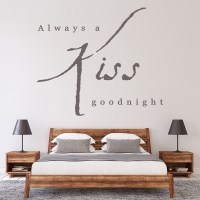 Always A Kiss Goodnight Wall Sticker Love Quote Wall Art