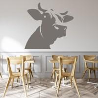 Dairy Cow Head Wall Sticker Farm Animals Wall Decal Kids ...