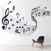 Musical Note Score Wall Stickers Music Wall Art