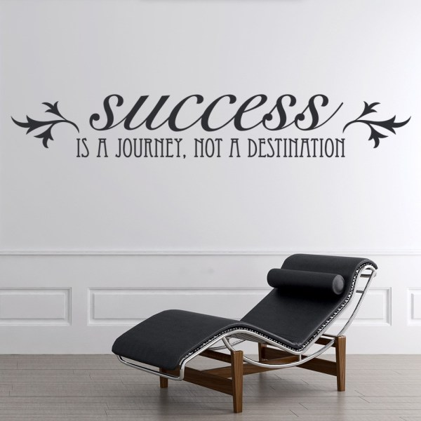 Success Journey Wall Sticker Inspirational Quote
