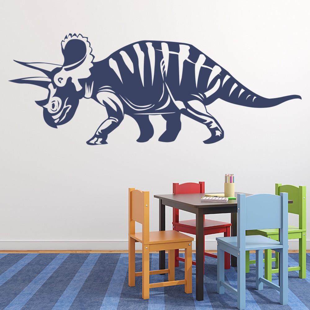 Triceratops Wall Sticker Jurassic Dinosaur Wall Decal Kids