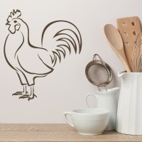 Chicken Wall Sticker Farm Bird Animals Wall Decal Kitchen