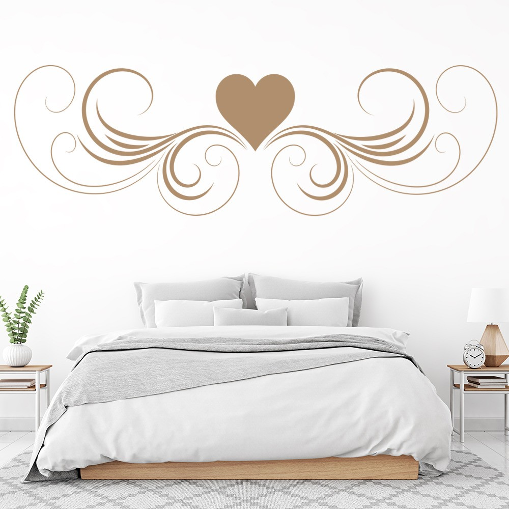 Love Heart Wall Sticker Headboard Design Wall Decal Girls