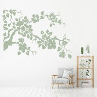 Flower Branch Wall Sticker Floral Wall Art