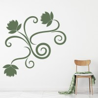 Simple Flower Edge Wall Sticker Floral Wall Art