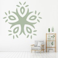 Circular Abstract Floral Wall Art Sticker Wall Decal