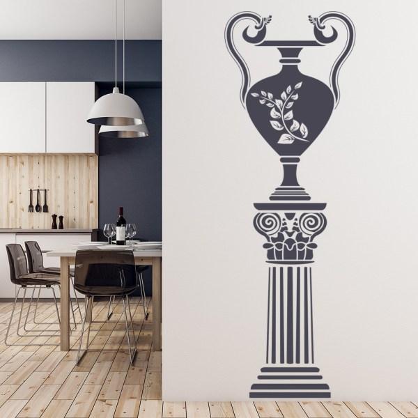 Greek Wall Sticker Grecian Vase Decal School Dining