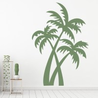 Palm Trees Wall Sticker Tropical Trees Wall Decal Bathroom ...