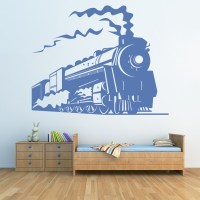 Steam Train Wall Sticker Transport Trains Wall Decal Boys ...