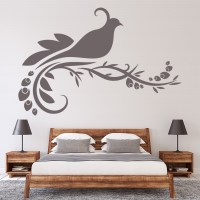 Bird On Floral Decorative Wall Art Stickers Decal