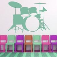 Drum Kit Wall Sticker Music Wall Art