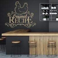 Original Recipe Wall Sticker Kitchen Wall Art