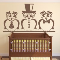Smart Owls Wall Art Sticker Decorative Wall Decal