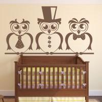 Smart Owls Wall Art Sticker Decorative Wall Decal