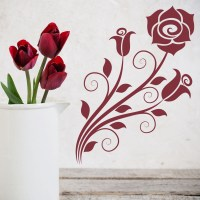 Roses Wall Sticker Floral Wall Art