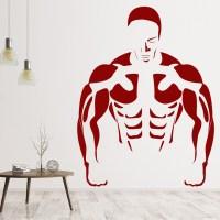 Body Builder Wall Sticker Gym Wall Art
