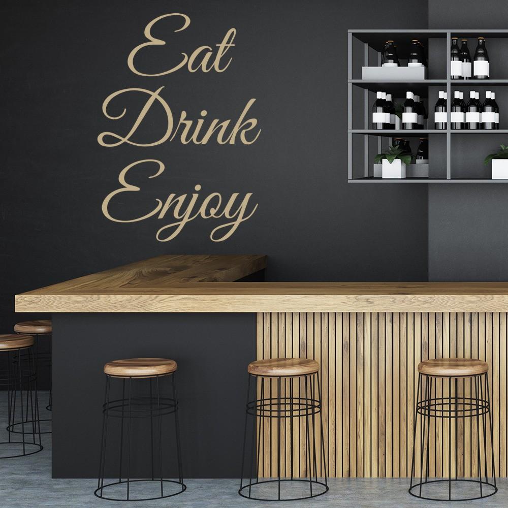 Eat Drink Enjoy Wall Sticker Kitchen Wall Art