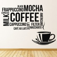 Coffee Cup Wall Sticker Coffee Wall Art