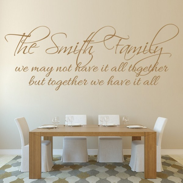 Family Wall Art Quote Sticker