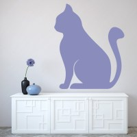 Simple Cat Silhouette Wall Sticker Animal Wall Art