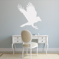 Raven Outline Wall Sticker Animal Wall Art