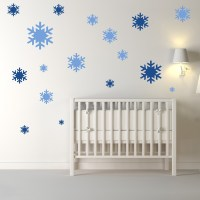Simple Snowflake Silhouette Wall Sicker Creative Multi ...