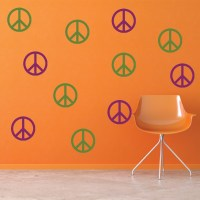 Simple Peace Sign Wall Sticker Creative Multi Pack Wall ...