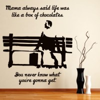 Forest Gump Wall Sticker Movie Quote Wall Decal Bedroom