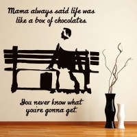 Forest Gump Wall Sticker Movie Quote Wall Decal Bedroom ...